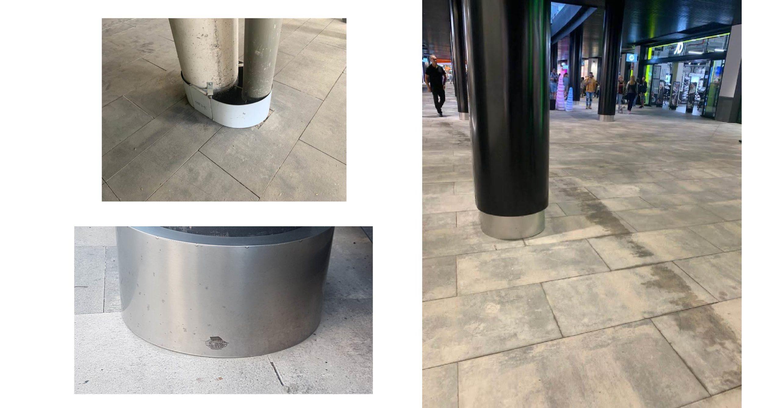 Forramiento columnas Mogan Mall